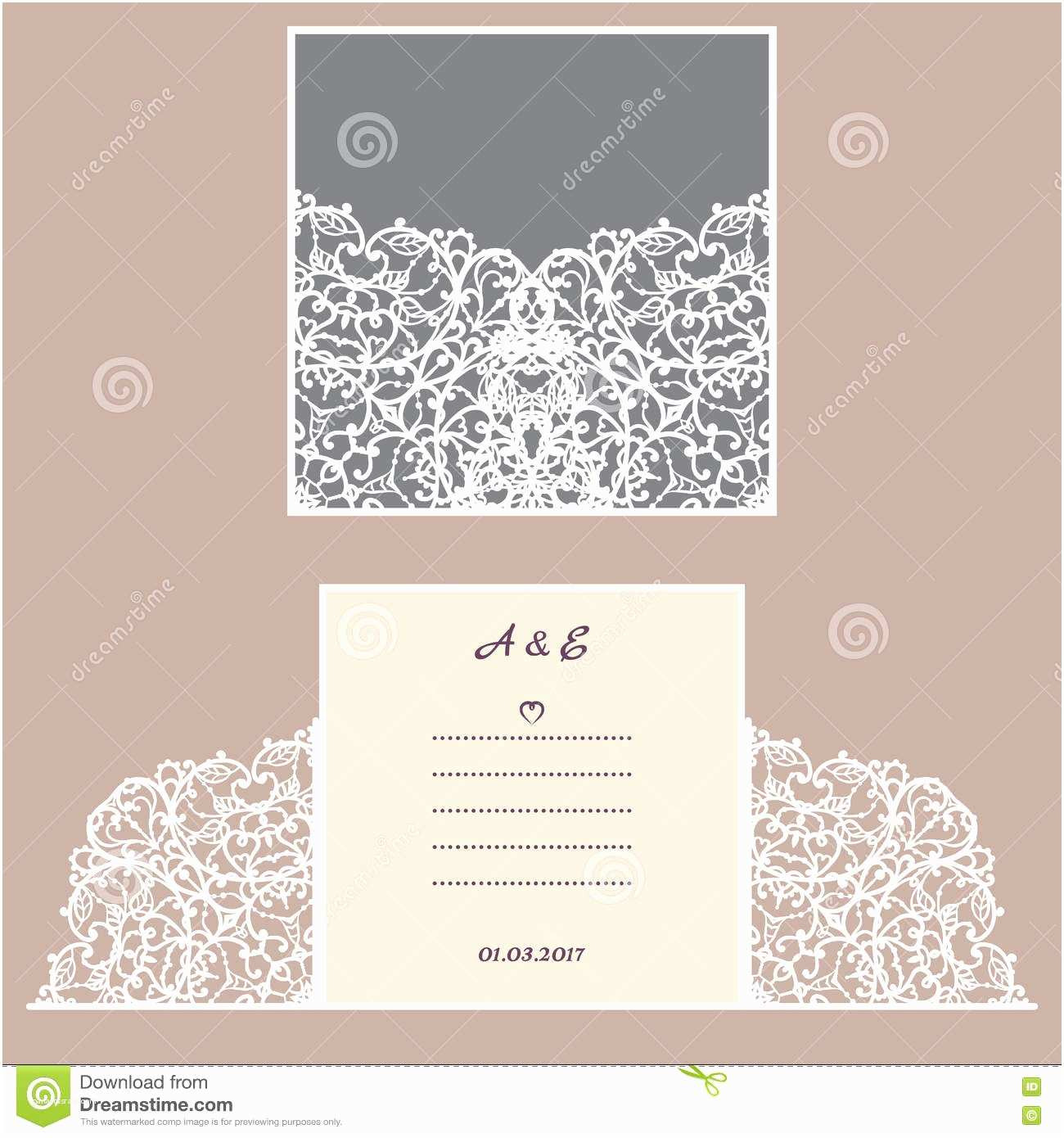 Wedding Invitation Envelope Template Wedding Invitation Greeting Card with Abstract ornament