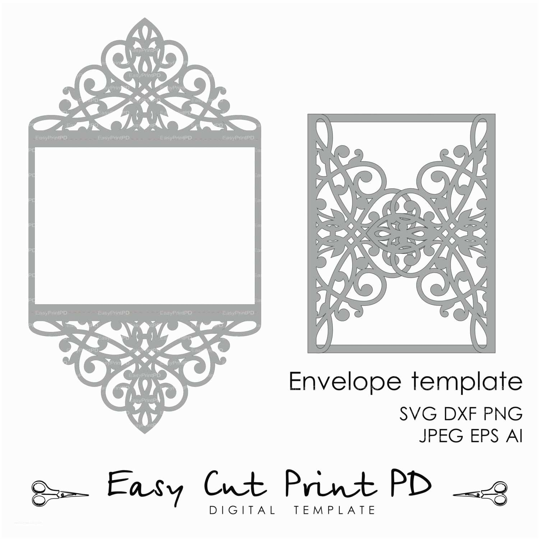 Wedding Invitation Envelope Template Wedding Invitation Pattern Card Template Lace Folds