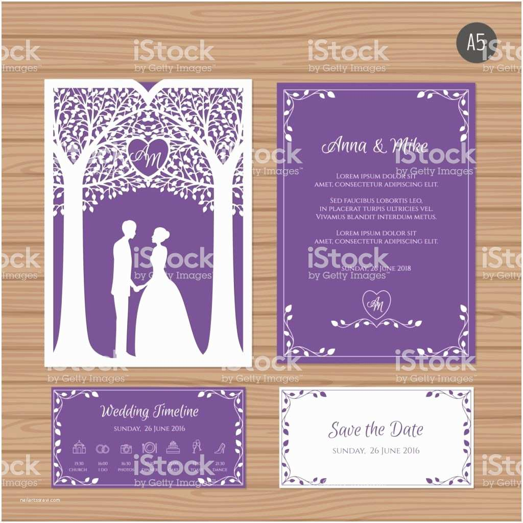 Wedding Invitation Envelope Template Wedding Invitation with Bride and Groom and Tree Paper