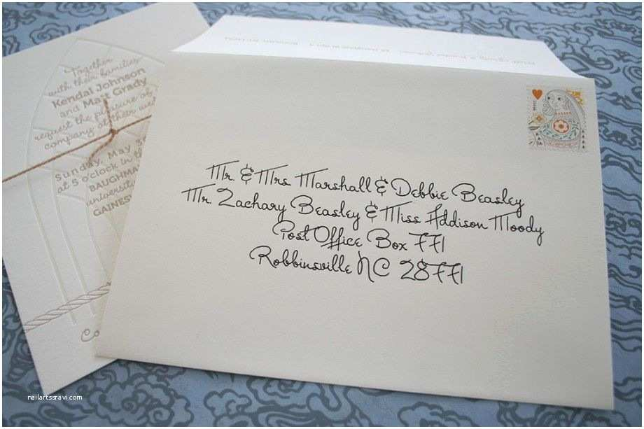 Wedding Invitation Envelopes Calligraphy Addressing Wedding Invitations with A Liner
