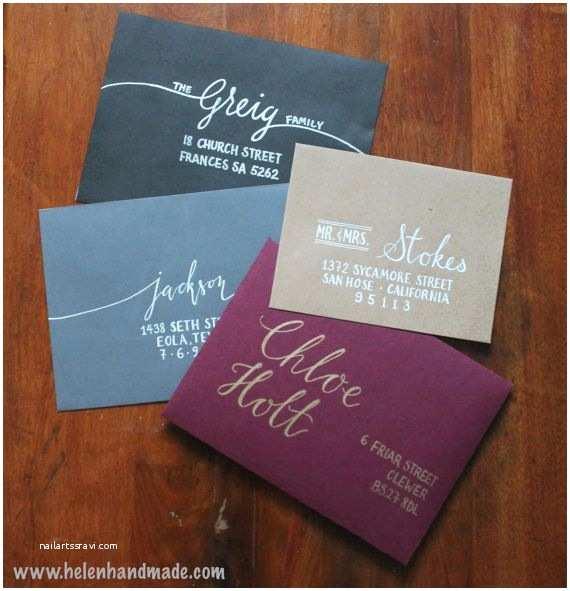 Wedding Invitation Envelopes Custom Hand Addressed Envelopes
