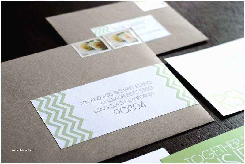 Wedding Invitation Envelopes Susie Bradford S Modern Chevron Stripe Wedding Invitations