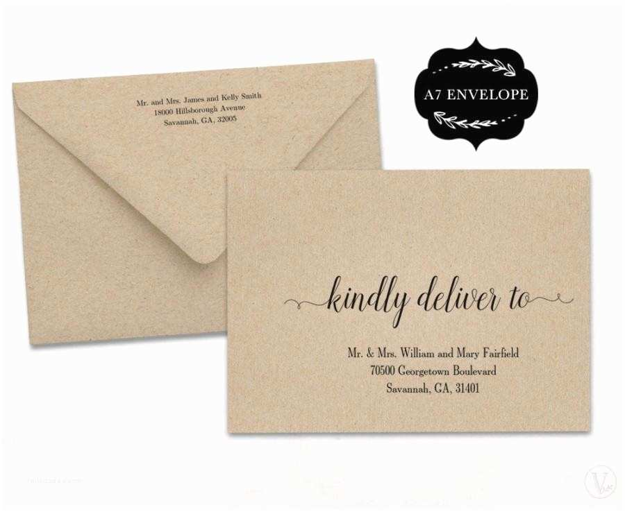 Wedding Invitation Envelopes Wedding Envelope Template Printable Wedding Envelope