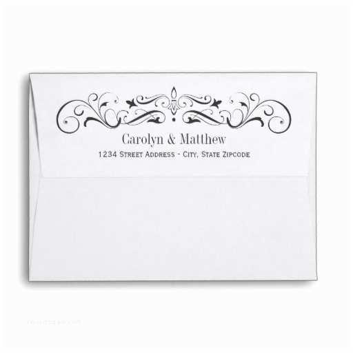 Wedding Invitation Envelopes Wedding Invitation Envelopes Flourished Design