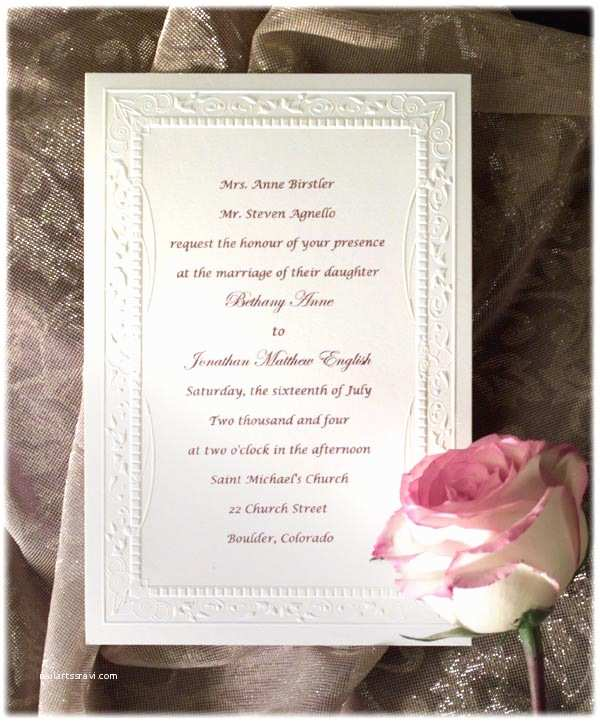 Wedding Invitation Examples formal Wedding Invitation Wording Etiquette Parte Two
