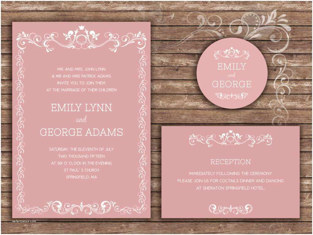 Wedding Invitation Examples Sample Wedding Invitations Wording