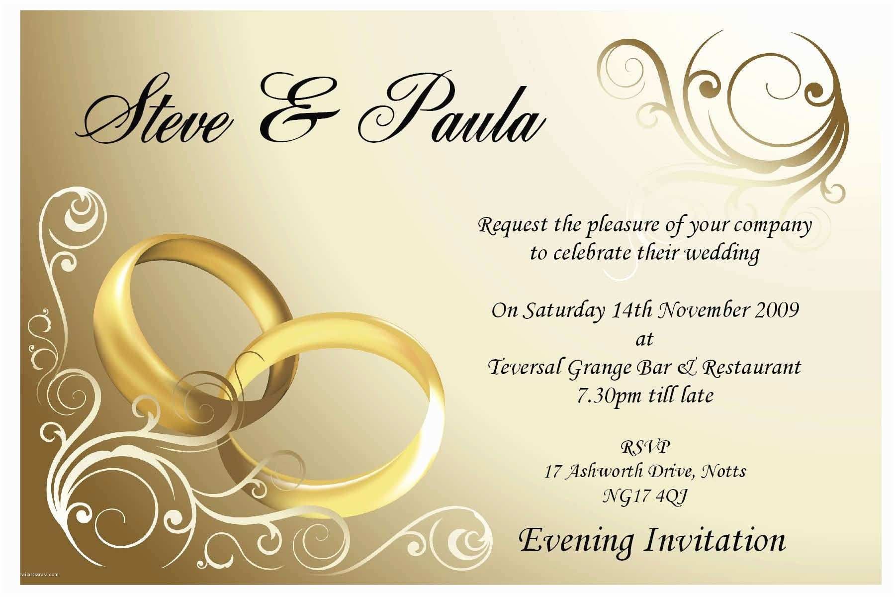 Wedding Invitation Examples Wedding Invitation Sample Wedding Invitation Card New