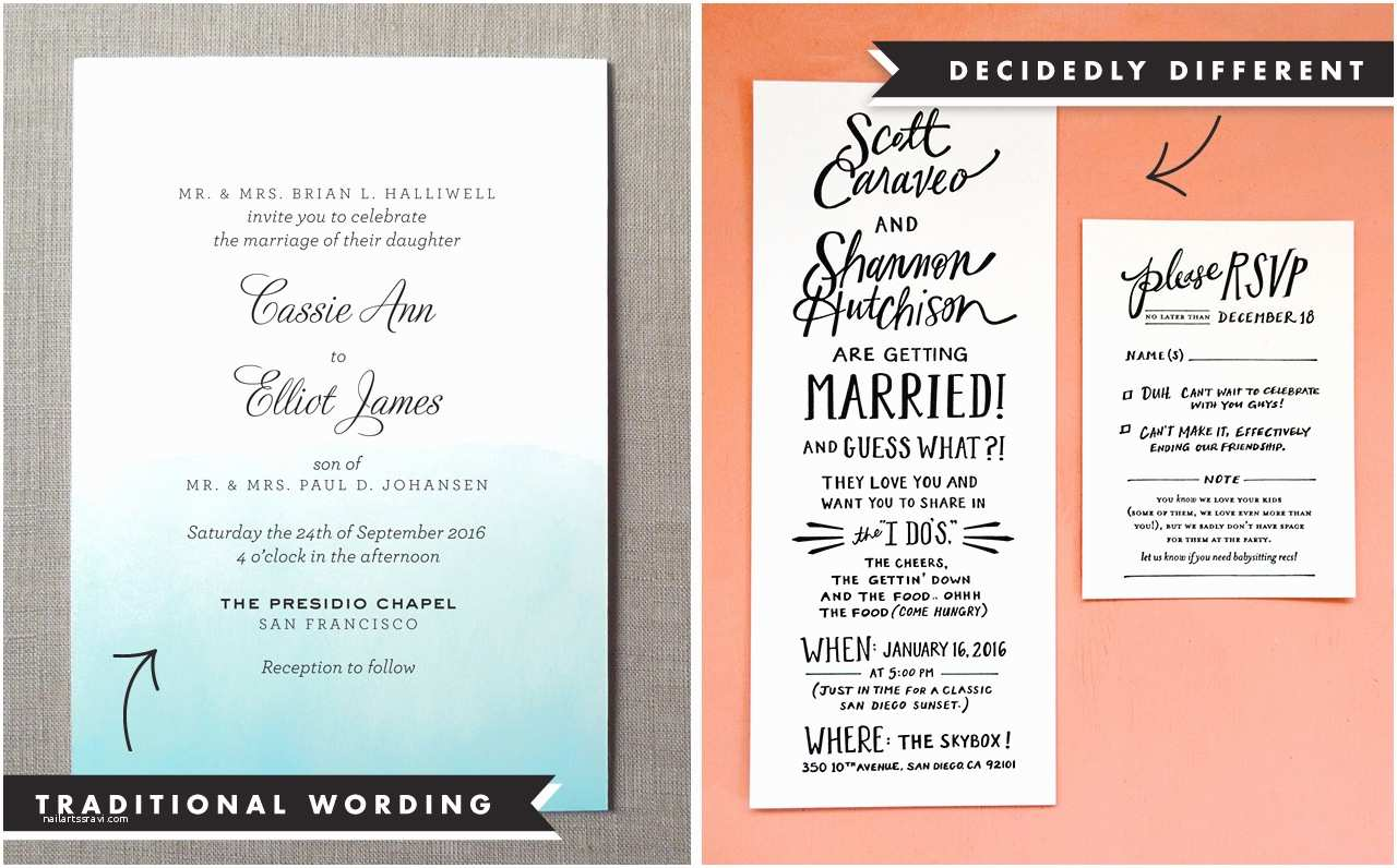 Wedding Invitation Examples Wedding Invitation Wording and Etiquette