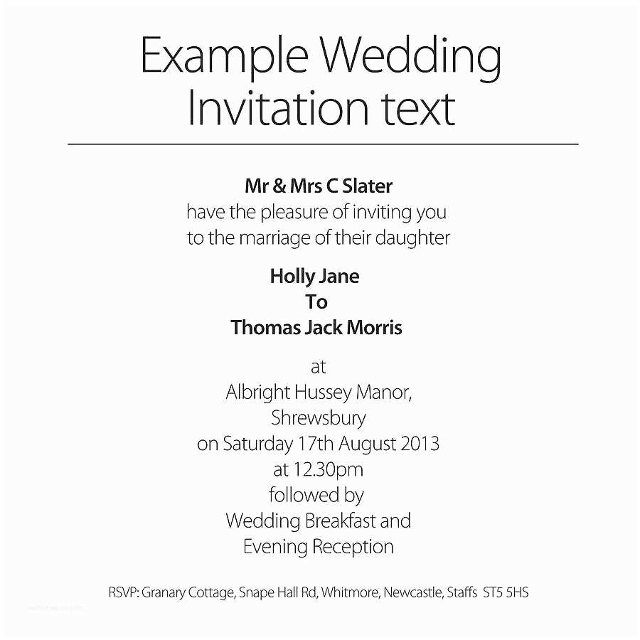 Wedding Invitation Examples Wedding Invitation Wording Wedding Invitations Templates Text
