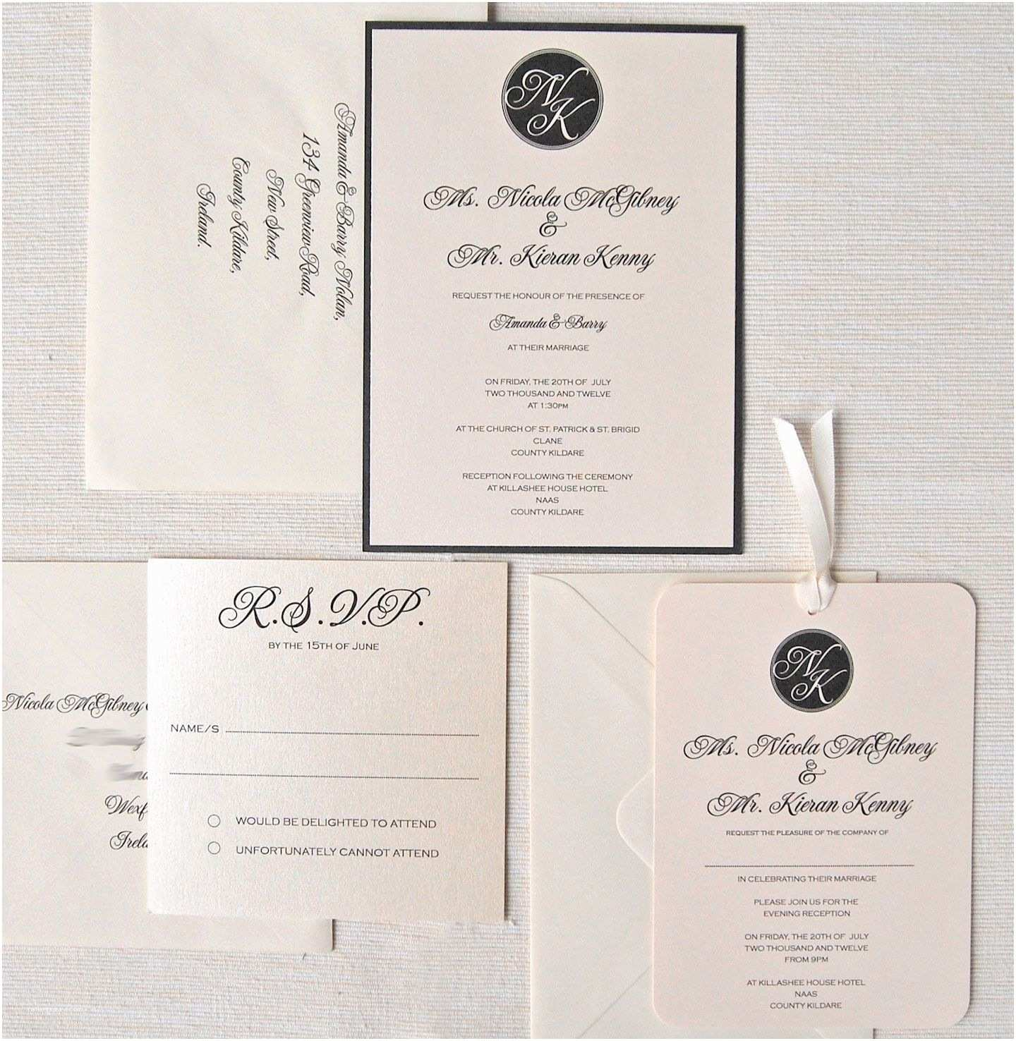 Wedding Invitation Examples Wedding Invitations Response Cards Wedding Invitations