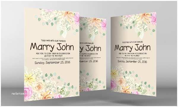 Wedding Invitation Flyer Template 21 Wedding Flyer Template Free Premium Psd Png Vector