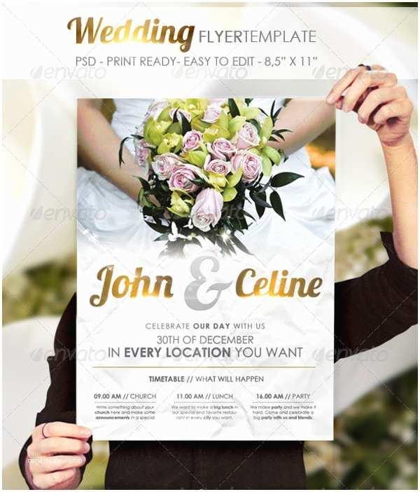 Wedding Invitation Flyer Template 24 Wedding Flyer Templates Psd Vector Eps Jpg