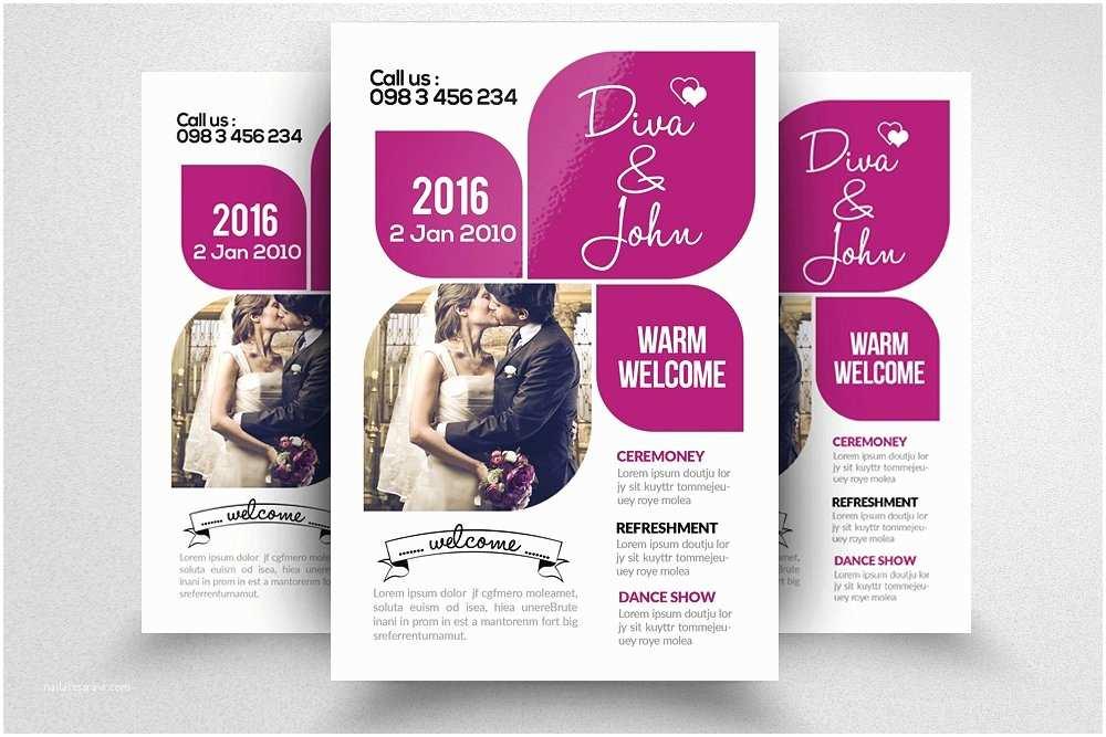 Wedding Invitation Flyer Template 31 Invitation Flyer Templates