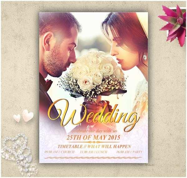 Wedding Invitation Flyer Template 40 Wedding Invitation Template Free Psd Vector Ai Eps