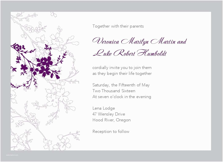 Wedding Invitation Flyer Template Free Wedding Invitation Templates for Word