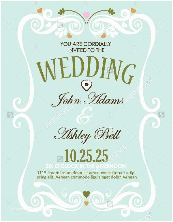 Wedding Invitation Flyer Template Printable Invitation Flyers