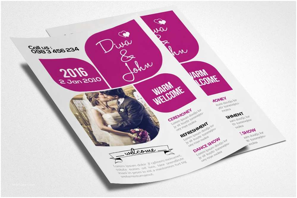 Wedding Invitation Flyer Template Wedding Invitation Flyer Template by Designhub