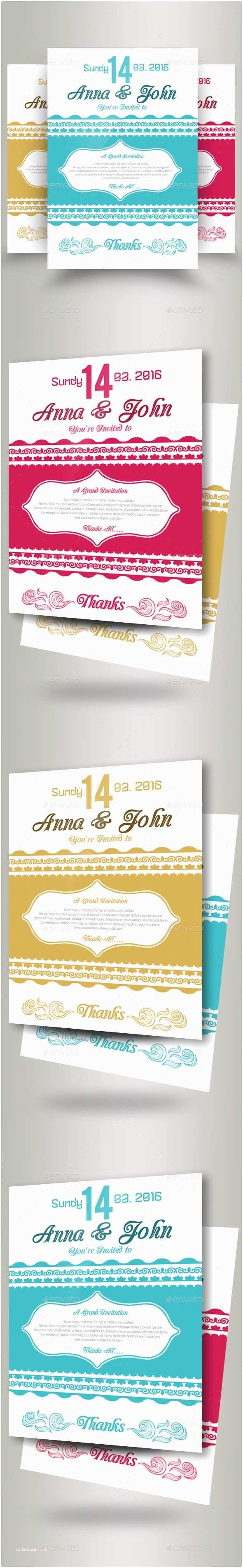 Wedding Invitation Flyer Template Wedding Invitation Flyer Template by Designhub719