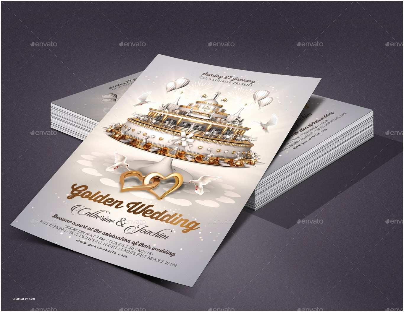 Wedding Invitation Flyer Template Wedding Invitation Flyer Template by Rembassio