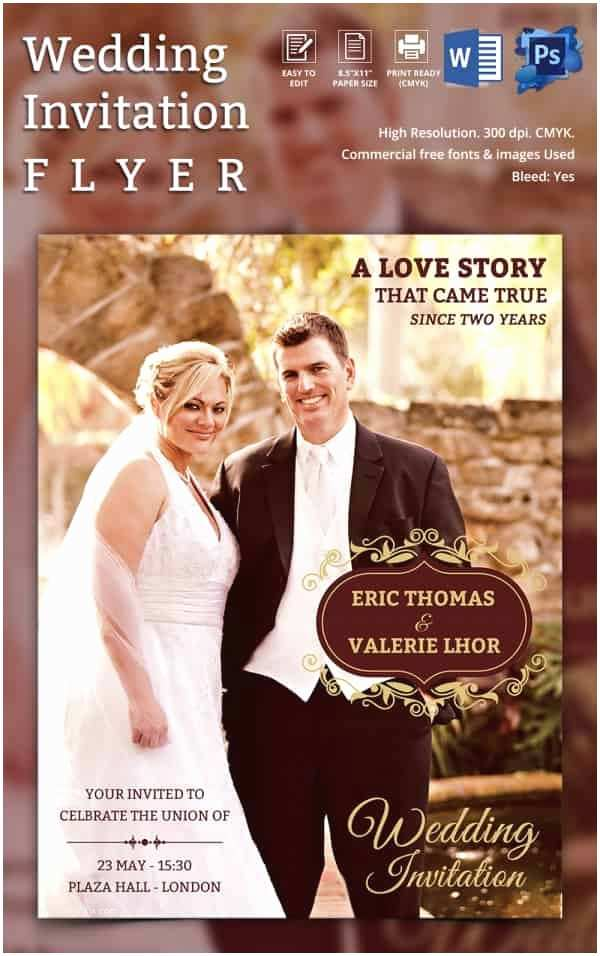Wedding Invitation Flyer Template Wedding Invitation Template 71 Free Printable Word Pdf