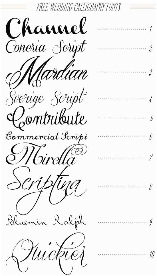 Wedding Invitation Fonts Free 40 Fonts for Diy Printable Wedding Invitations