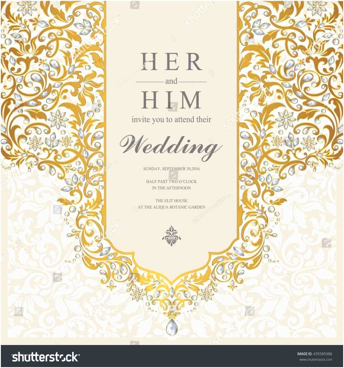 Wedding Invitation for Indian Wedding Abstract Floral Stock Vector Invite Invitation Wedding