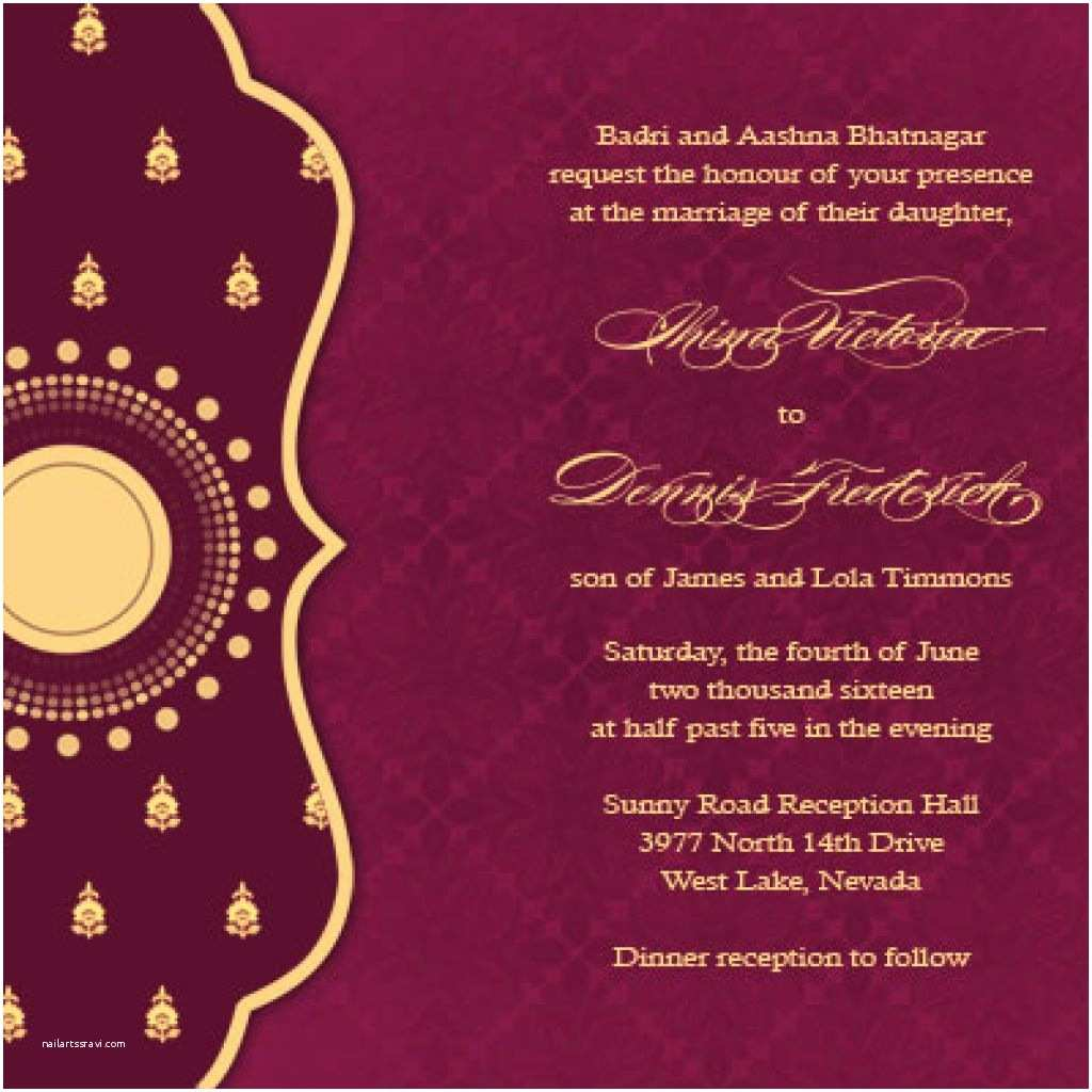 Wedding Invitation for Indian Wedding Creative Hindu Wedding Cards Wordings Ideas Wedding