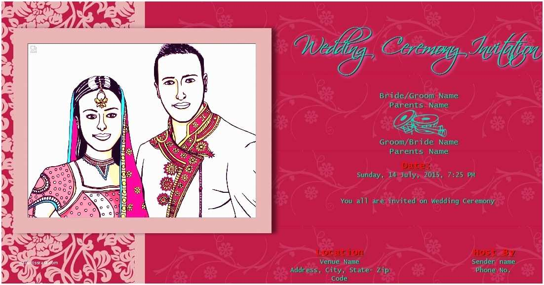 Wedding Invitation for Indian Wedding Free Line Wedding India Invitation