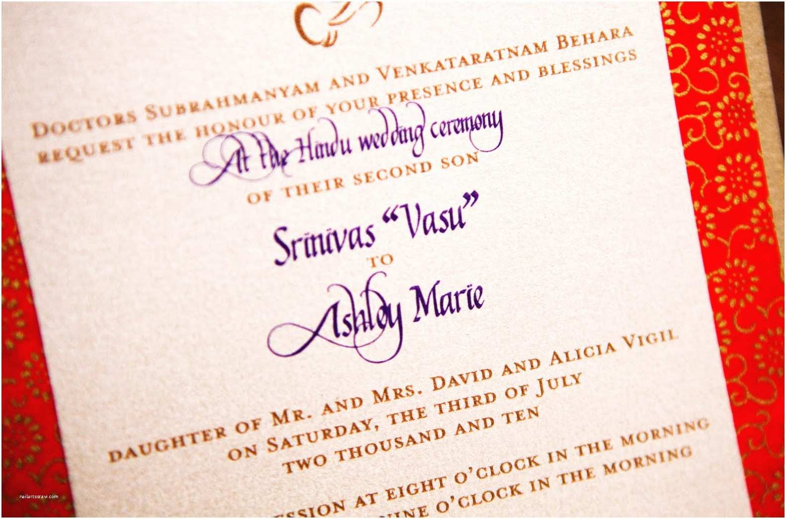 Wedding Invitation For Indian Wedding Hindu Wedding Ceremony Invitation Wording In