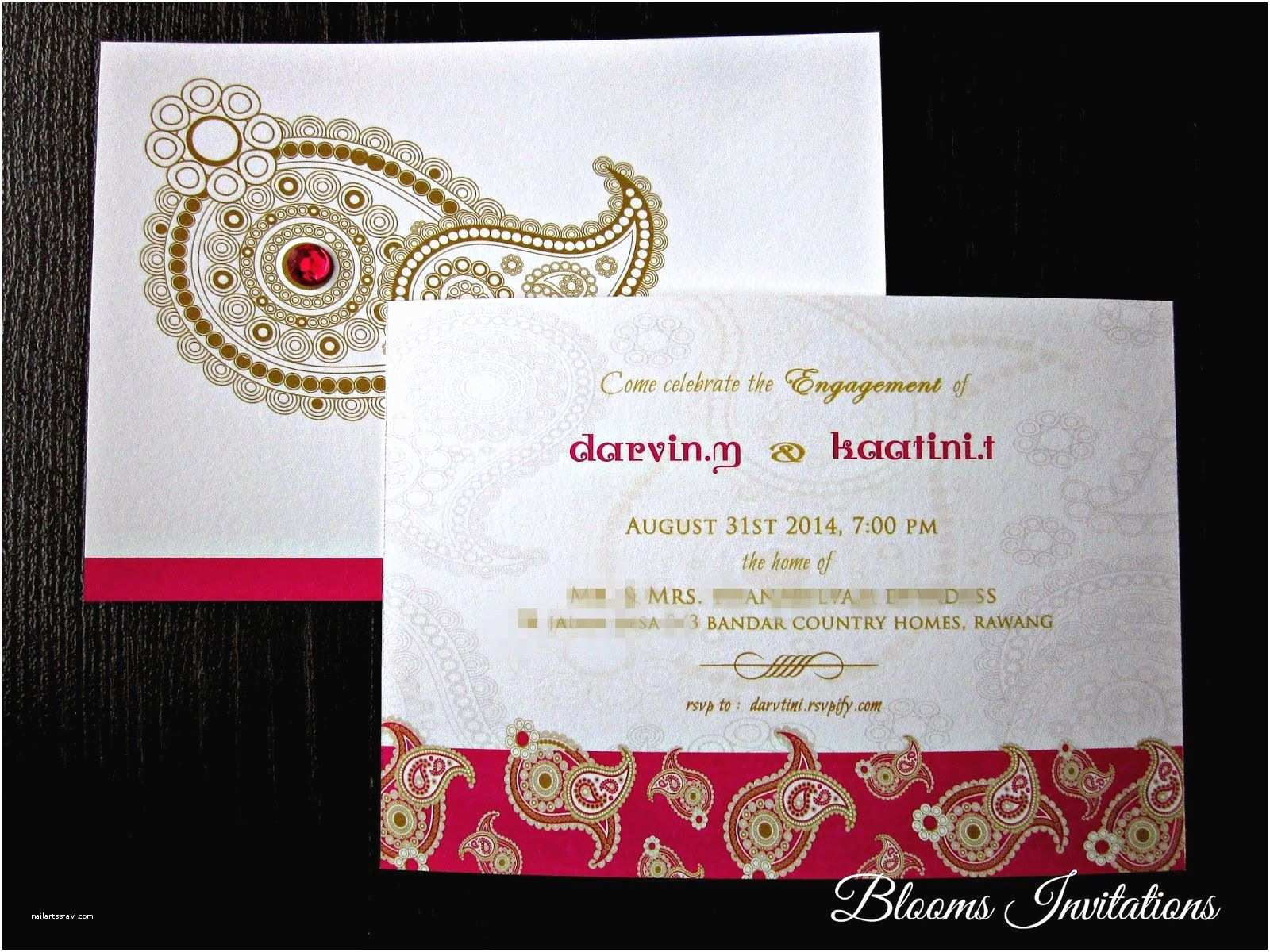 Wedding Invitation for Indian Wedding Indian Engagement Invitations