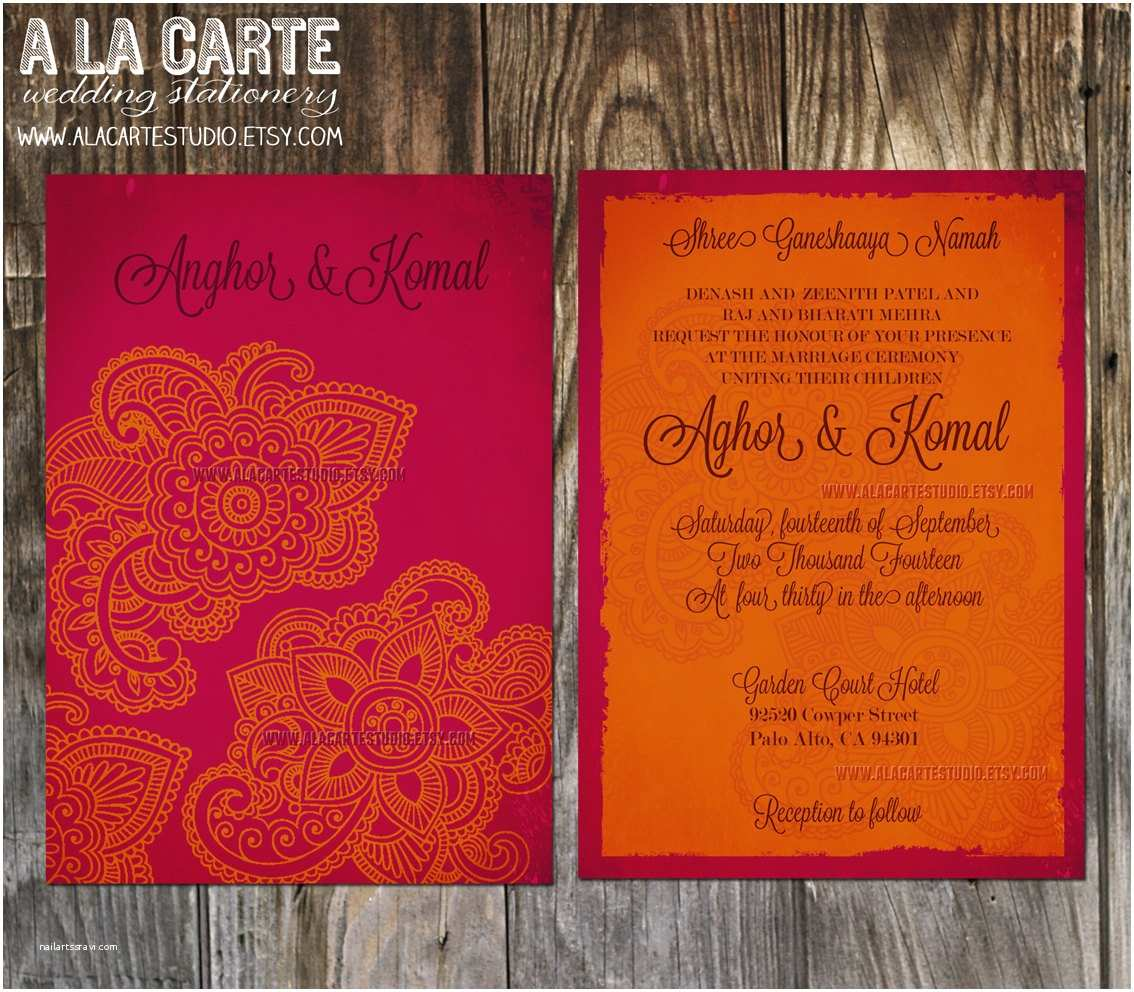 Wedding Invitation for Indian Wedding Indian Wedding Invitation – Gangcraft