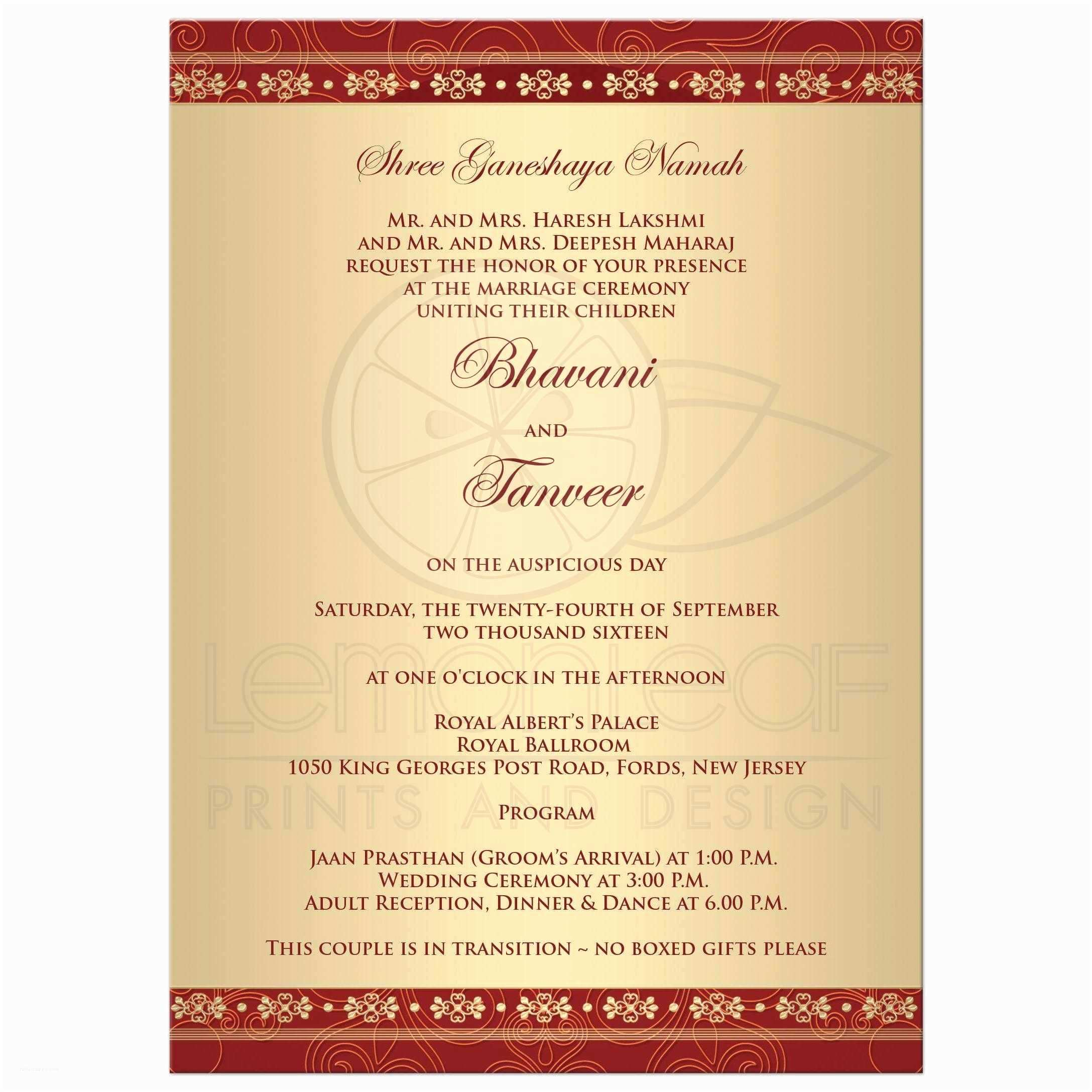 Wedding Invitation for Indian Wedding Wedding Invitation Indian Wedding Invitation Cards