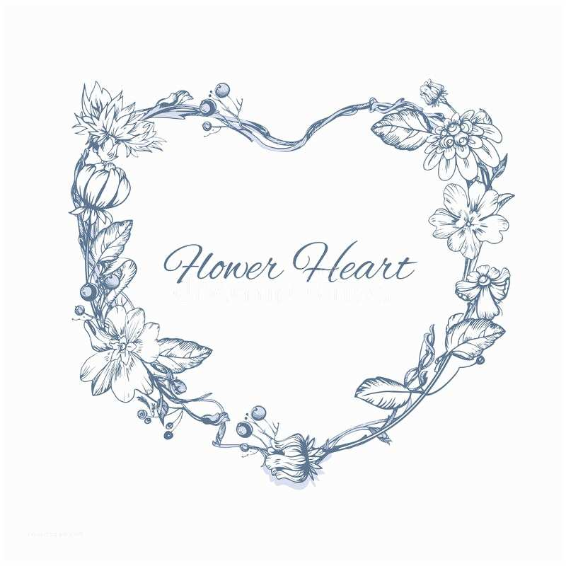 Wedding Invitation form Floral Element for Wedding Invitation Cards Heart form