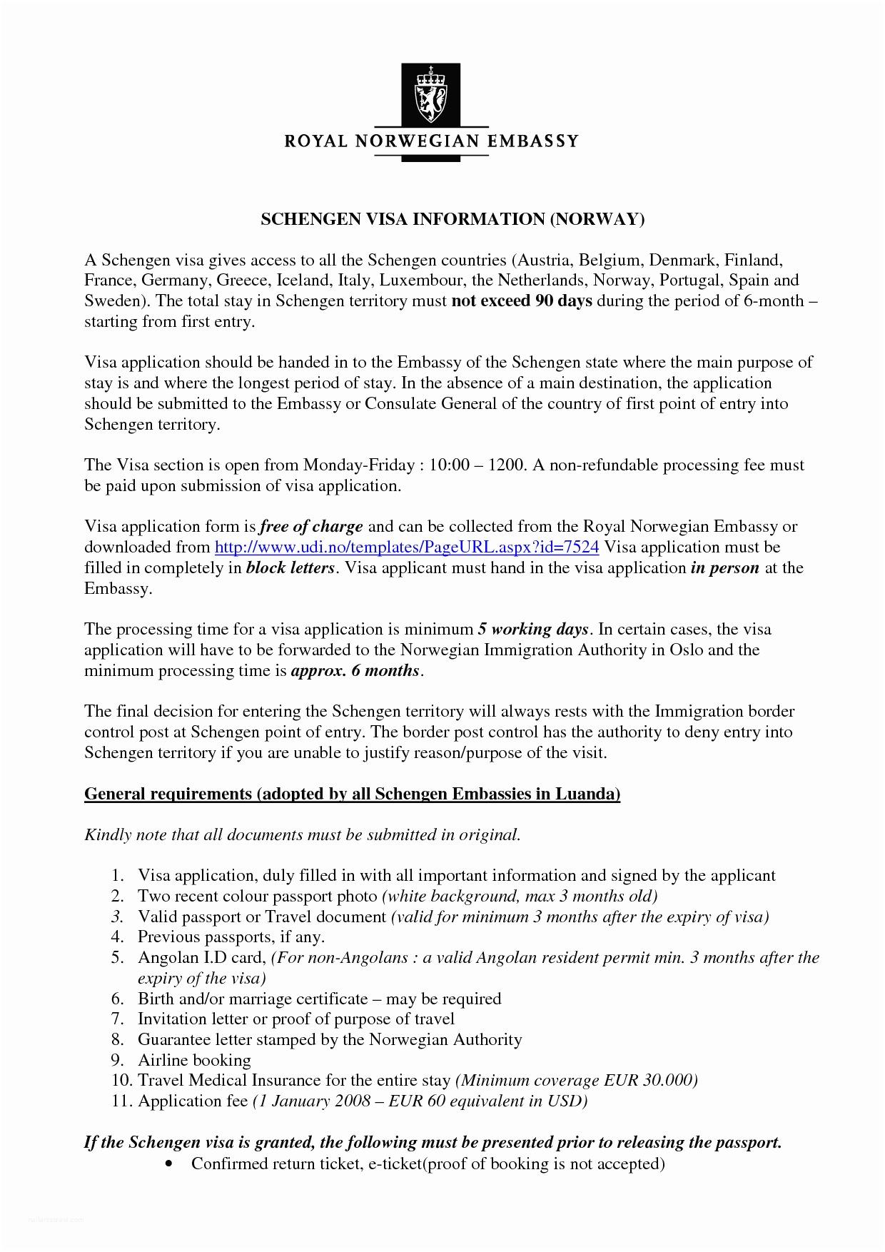 Wedding Invitation form Free Invitation Letter format for Schengen Visa Letter