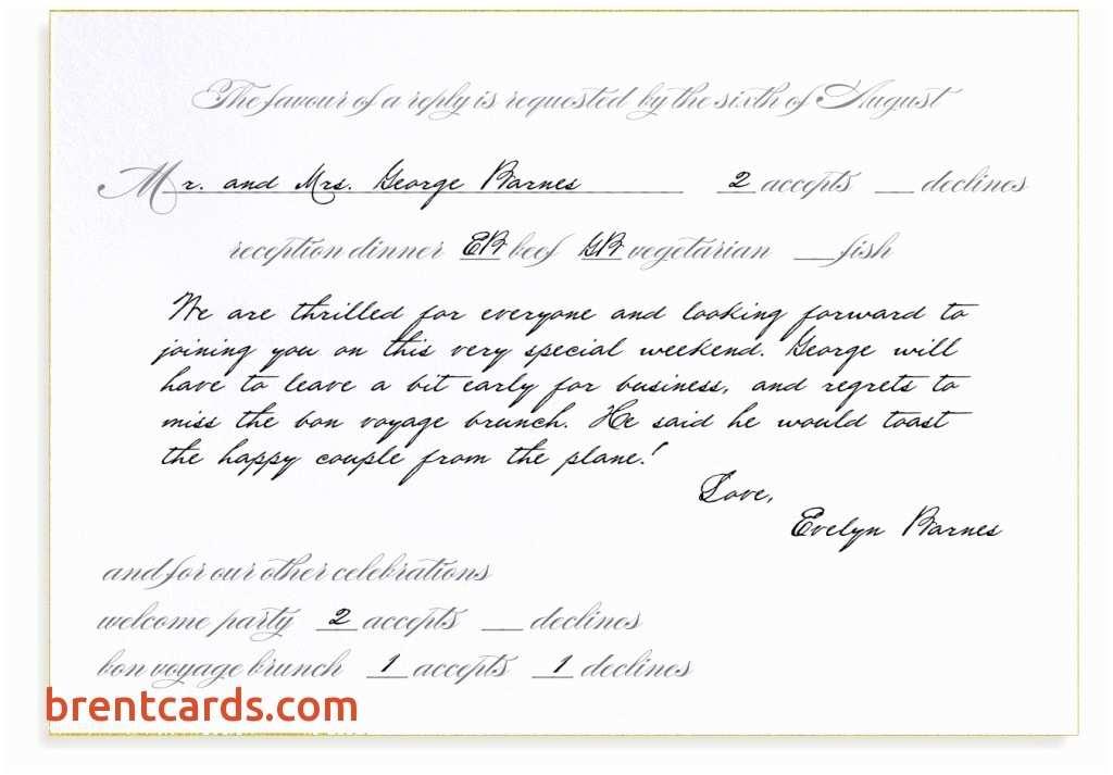 Wedding Invitation Form Full Form Rsvp In Wedding