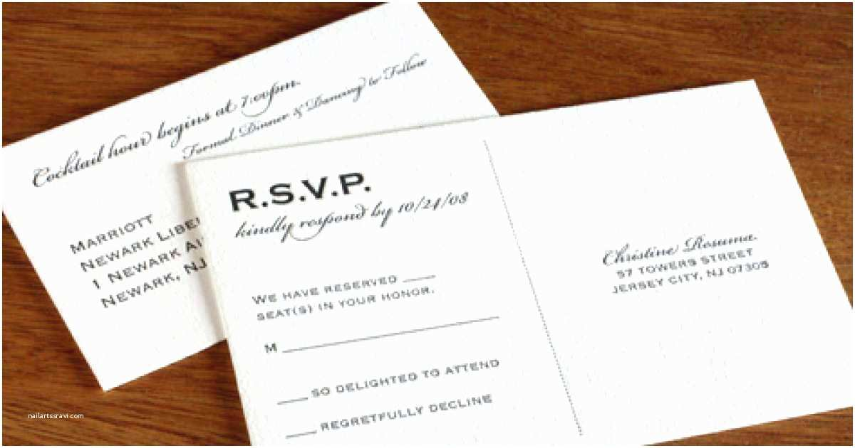 Wedding Invitation Form Full Form Rsvp Invitations In English For On