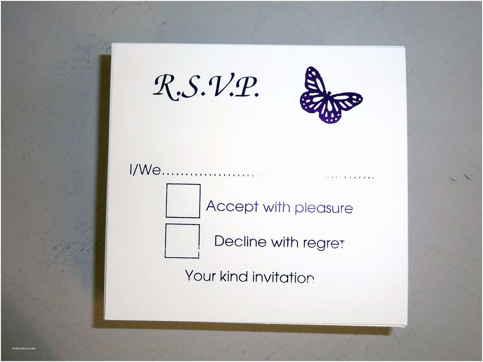 Wedding Invitation form Wedding Invitations Reply Cards Wedding Invitations