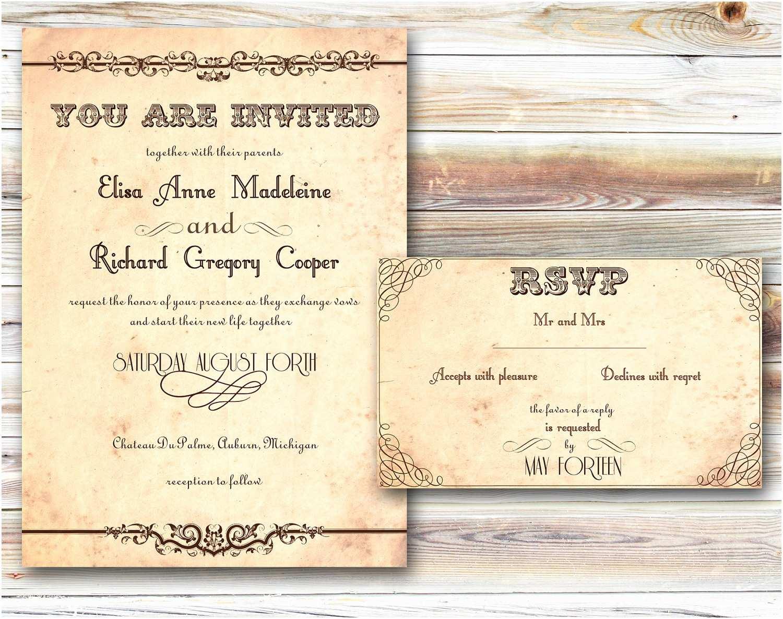 Wedding Invitation format Country Wedding Invitation Wording