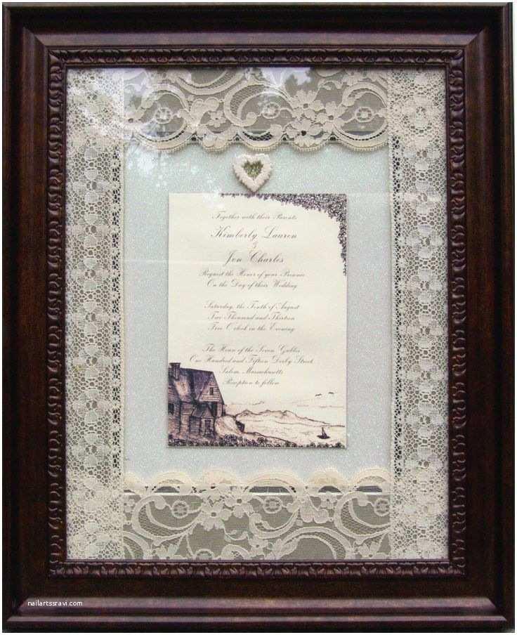 Wedding Invitation Frame 17 Best Images About Wedding Invitations Framed Keepsake