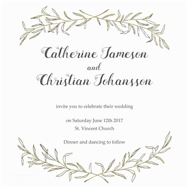 Wedding Invitation Frame Elegant Wedding Invitation with A Floral Frame Vector