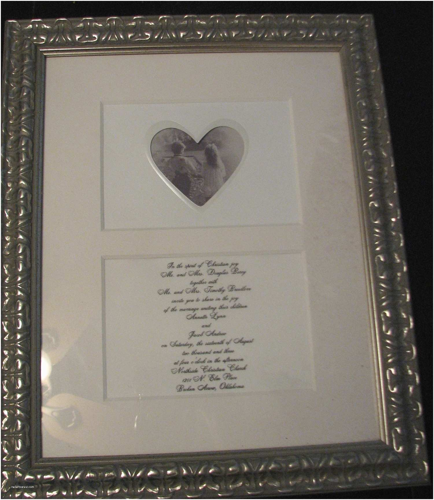 Wedding Invitation Frame Framing Wedding Invitations Home Design Mannahatta
