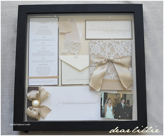 Wedding Invitation Frame Our Wedding Invitation Program and Menu Box Frame