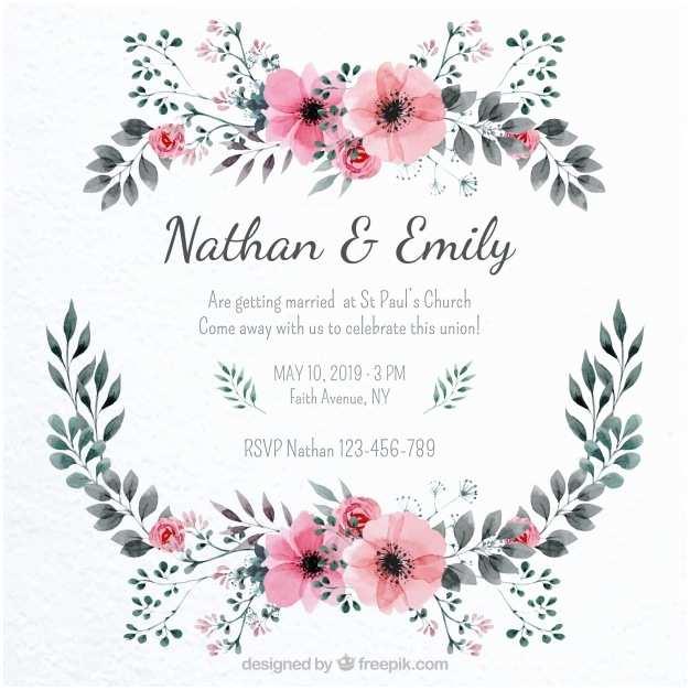 Wedding Invitation Frame Pretty Wedding Invitation with A Floral Frame Vector