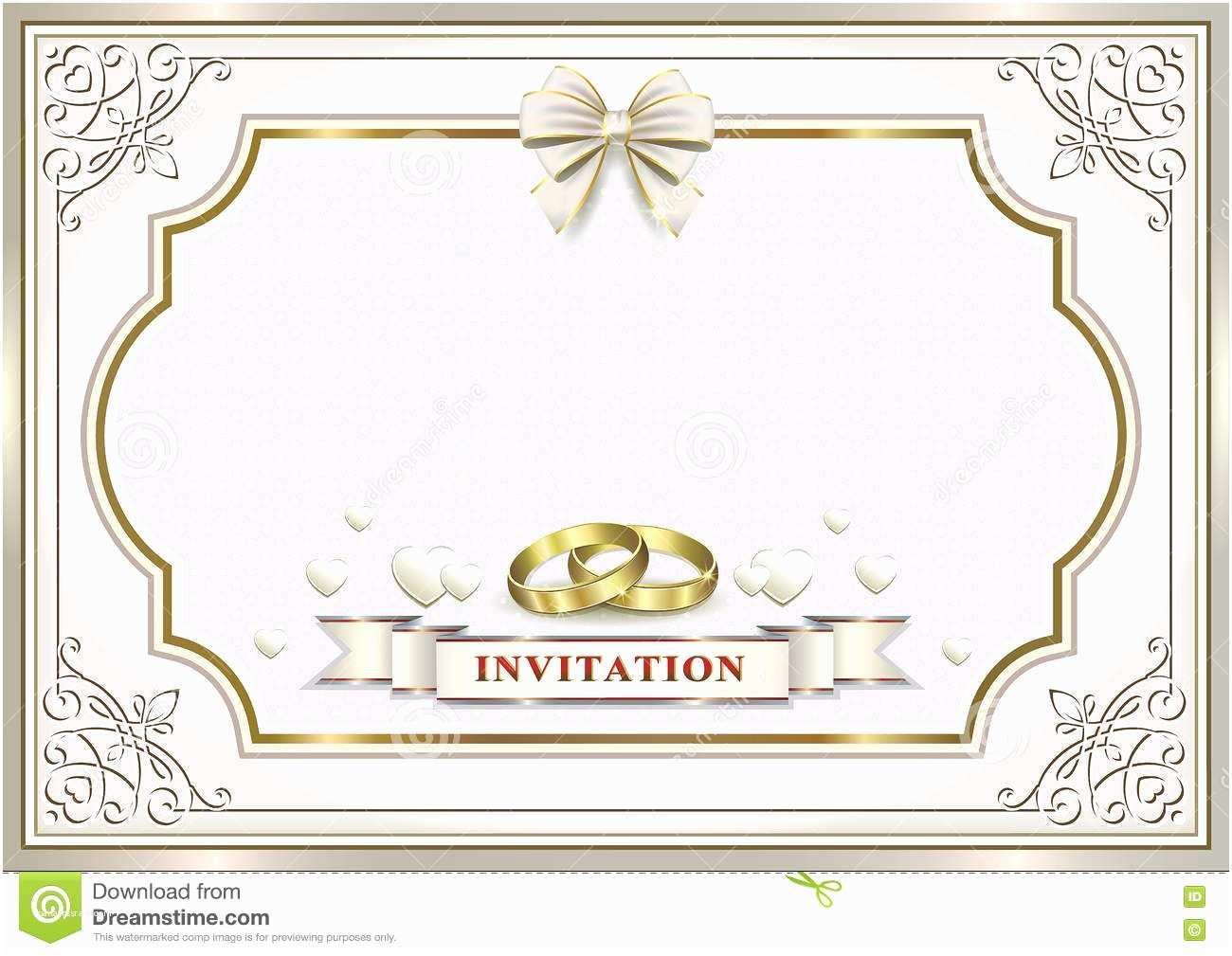 Wedding Invitation Frame Wedding Invitation Card Stock Vector Image Of Figure