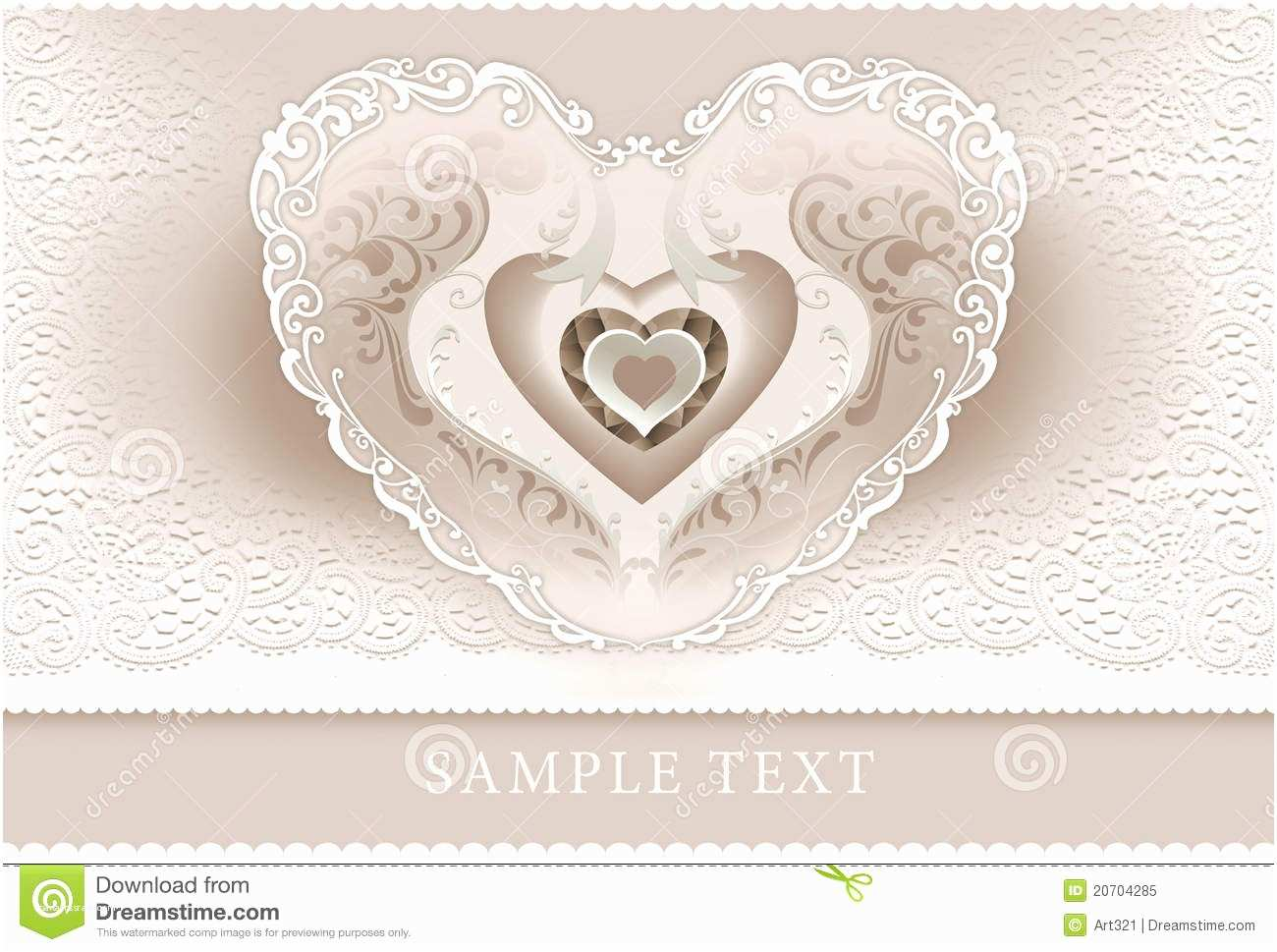 Wedding Invitation Frame Wedding Invitation Frame Heart Royalty Free Stock