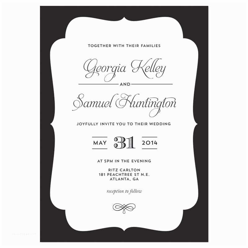 Wedding Invitation Frame Wedding Invitation Frame