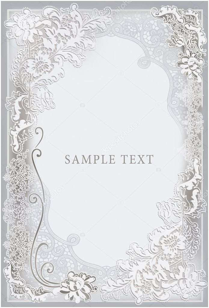 Wedding Invitation Frame Wedding Invitation Frame — Stock © Art321