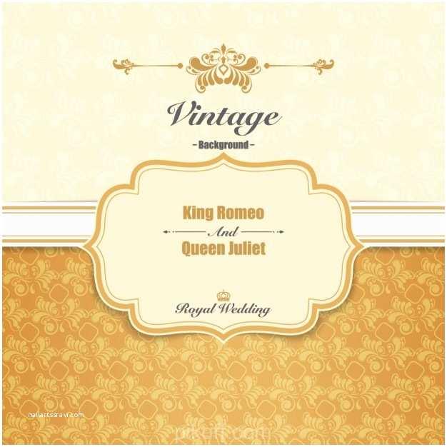 Wedding Invitation Free Download [ai] Royal Wedding Invitation Vector Free