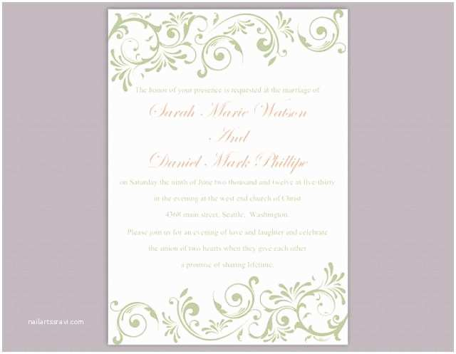 Wedding Invitation Free  Elegant Wedding Invitation Templates Free