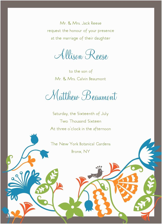 Wedding Invitation Free Download Home Invitation Template